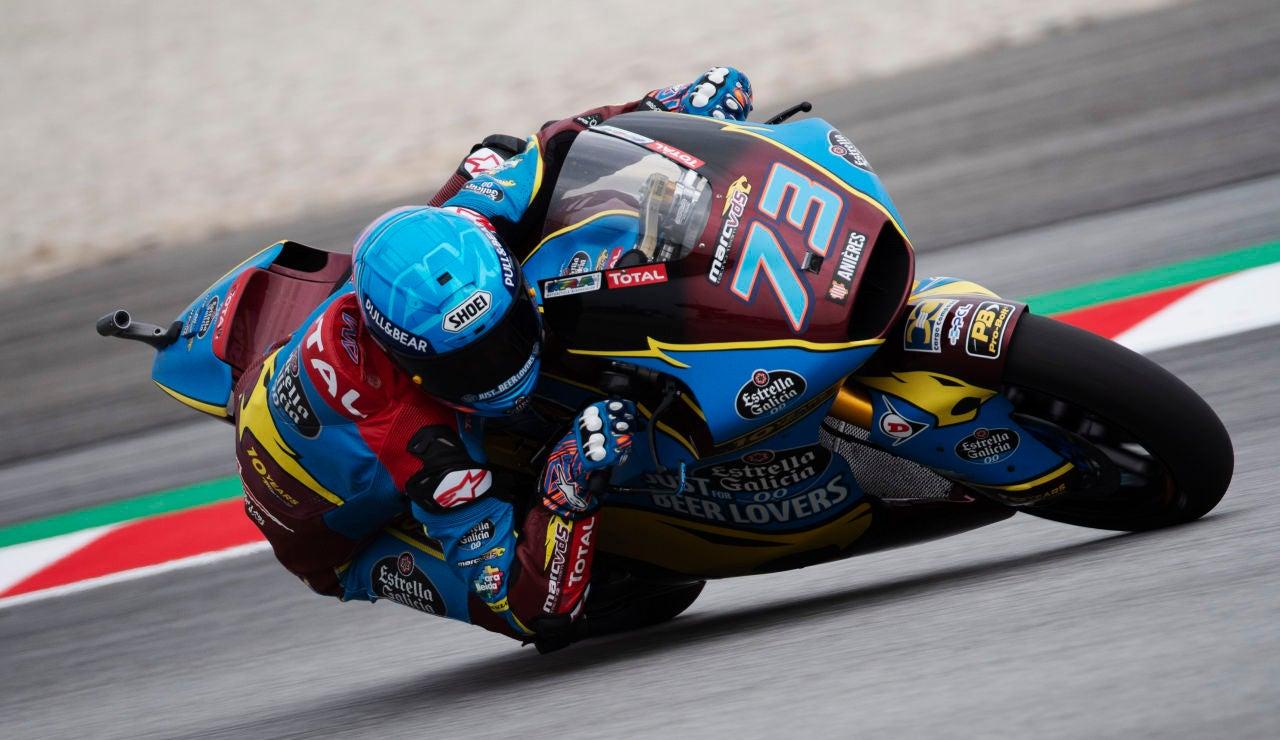 Álex Márquez, durante la clasificación del GP de Malasia