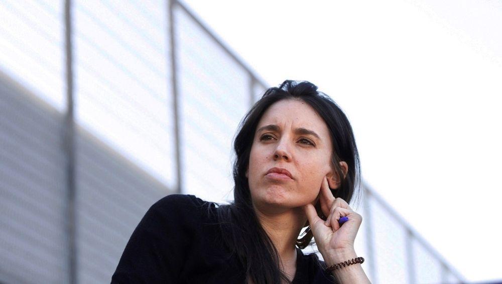 Irene Montero en un acto electoral en Barcelona