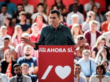 Pedro Sánchez en un acto de campaña electoral de las elecciones generales 2019