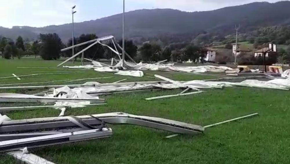 Fuertes rachas de viento en Bakio