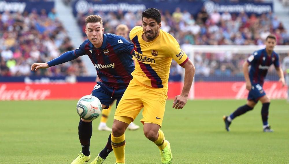 Luis Suárez se lesionó ante el Levante