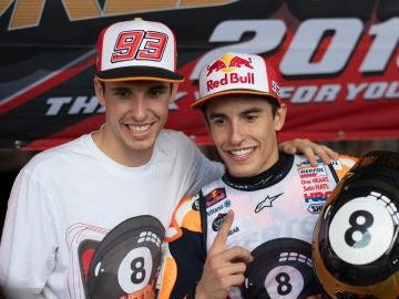 Álex y Marc Márquez, campeones de Moto2 y MotoGP