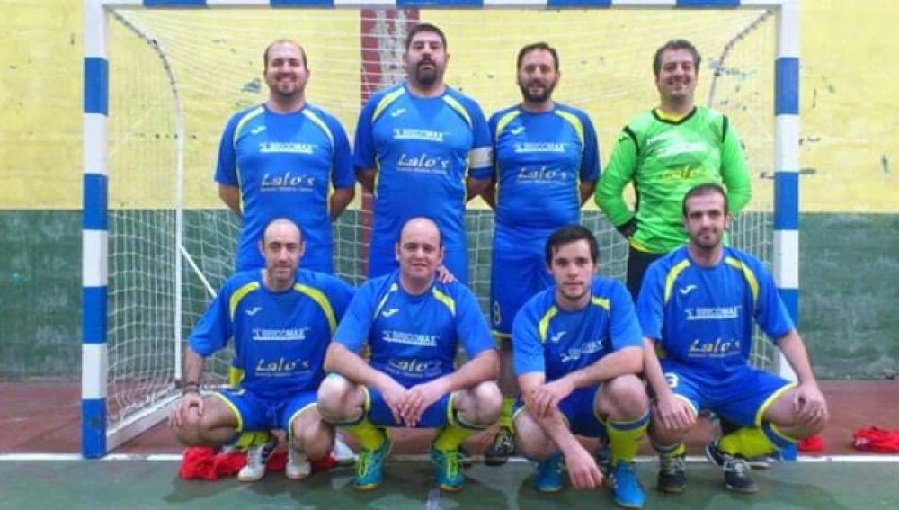 Los integrantes del Baíña de fútbol sala