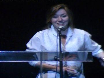 La emotiva dedicatoria de Lola Dueñas a su padre durante una entrega de premios