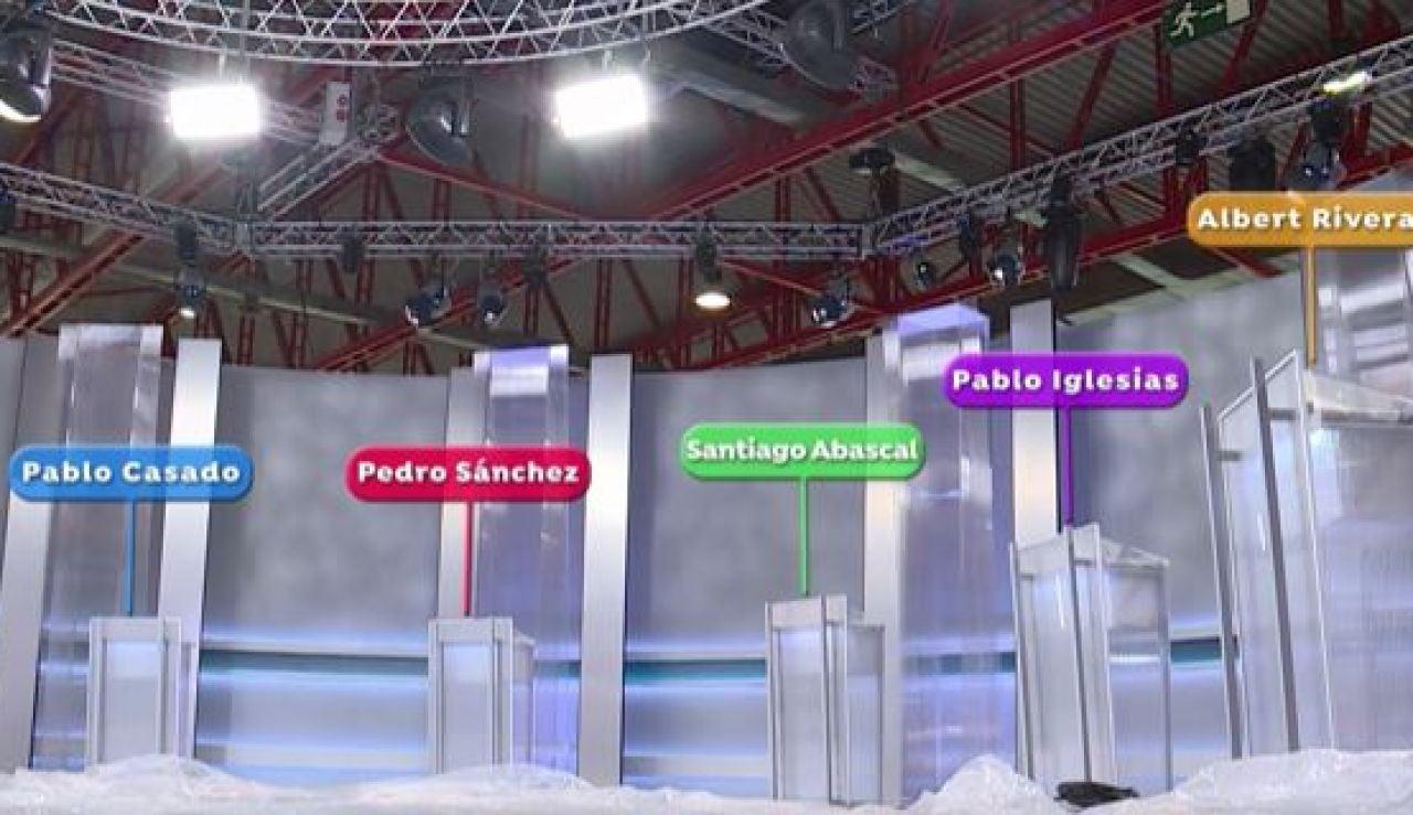 Reparto de atriles para el debate decisivo