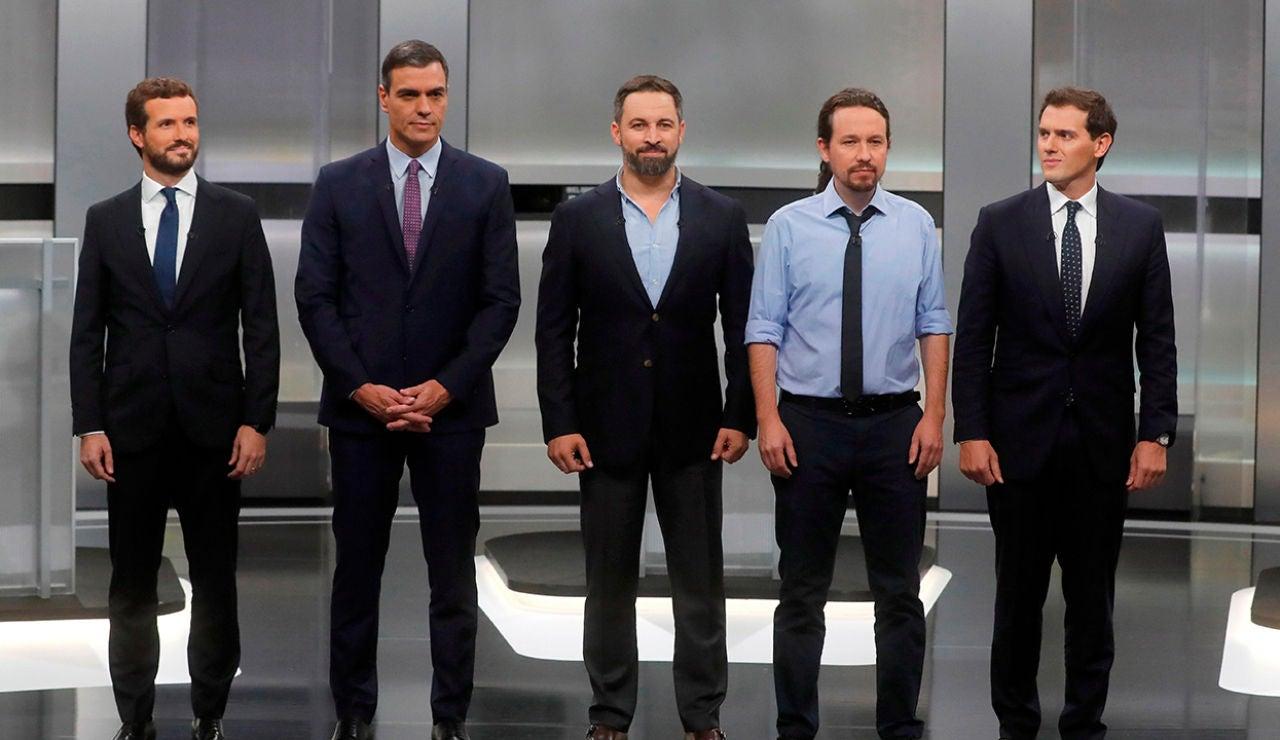 Elecciones Generales 2019: Debate entre los cinco principales candidatos el 4 de noviembre