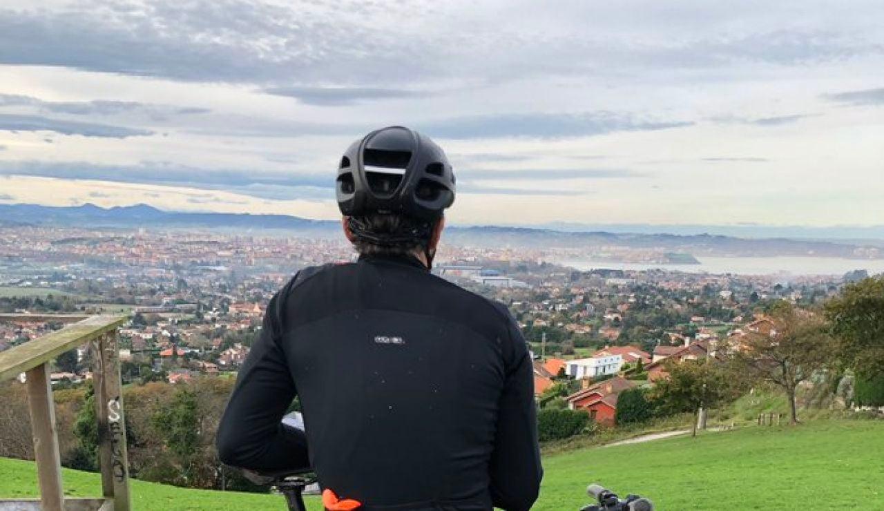 Luis Enrique, en bicicleta
