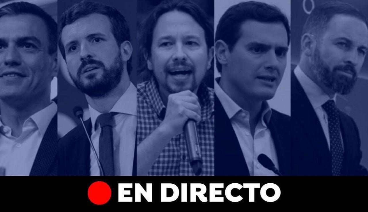 Elecciones generales 2019: Debate electoral y última hora de la campaña del 10-N, en directo