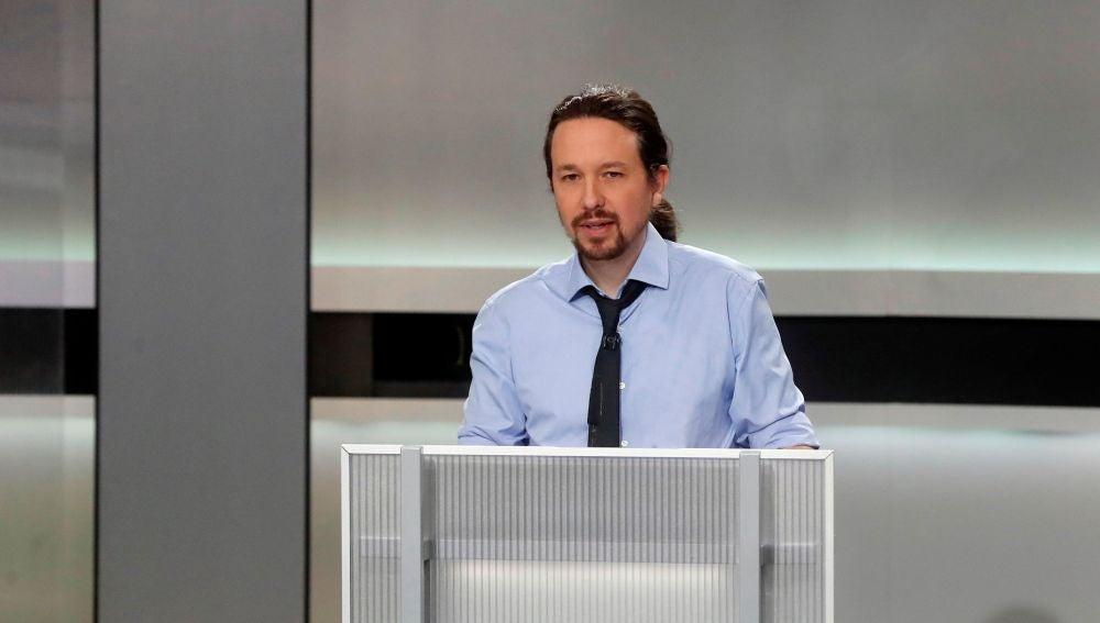 El candidato de Unidas Podemos Pablo Iglesias