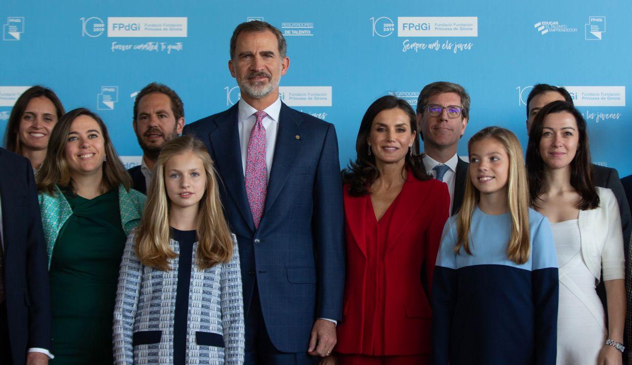 La Familia Real antes de los Premios Princesa de Girona