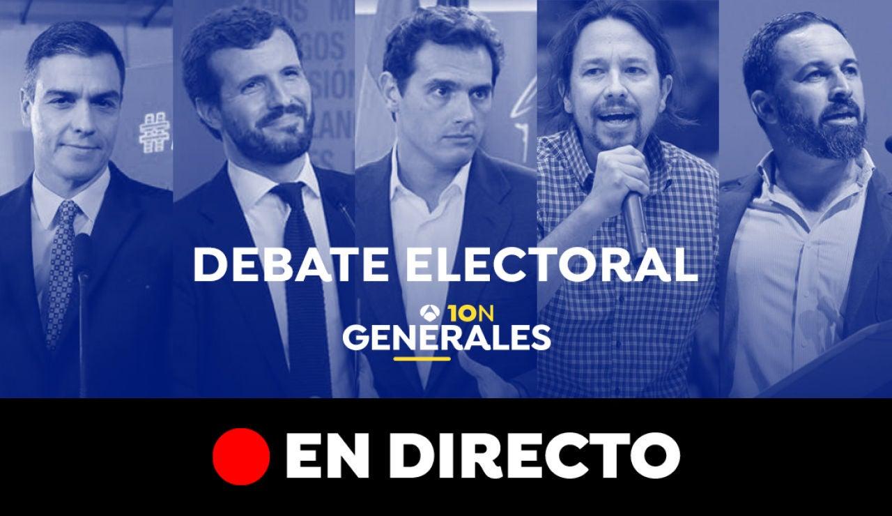 Elecciones generales 2019: Debate electoral del 10-N, en directo