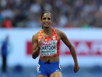 Ghafoor durante una carrera