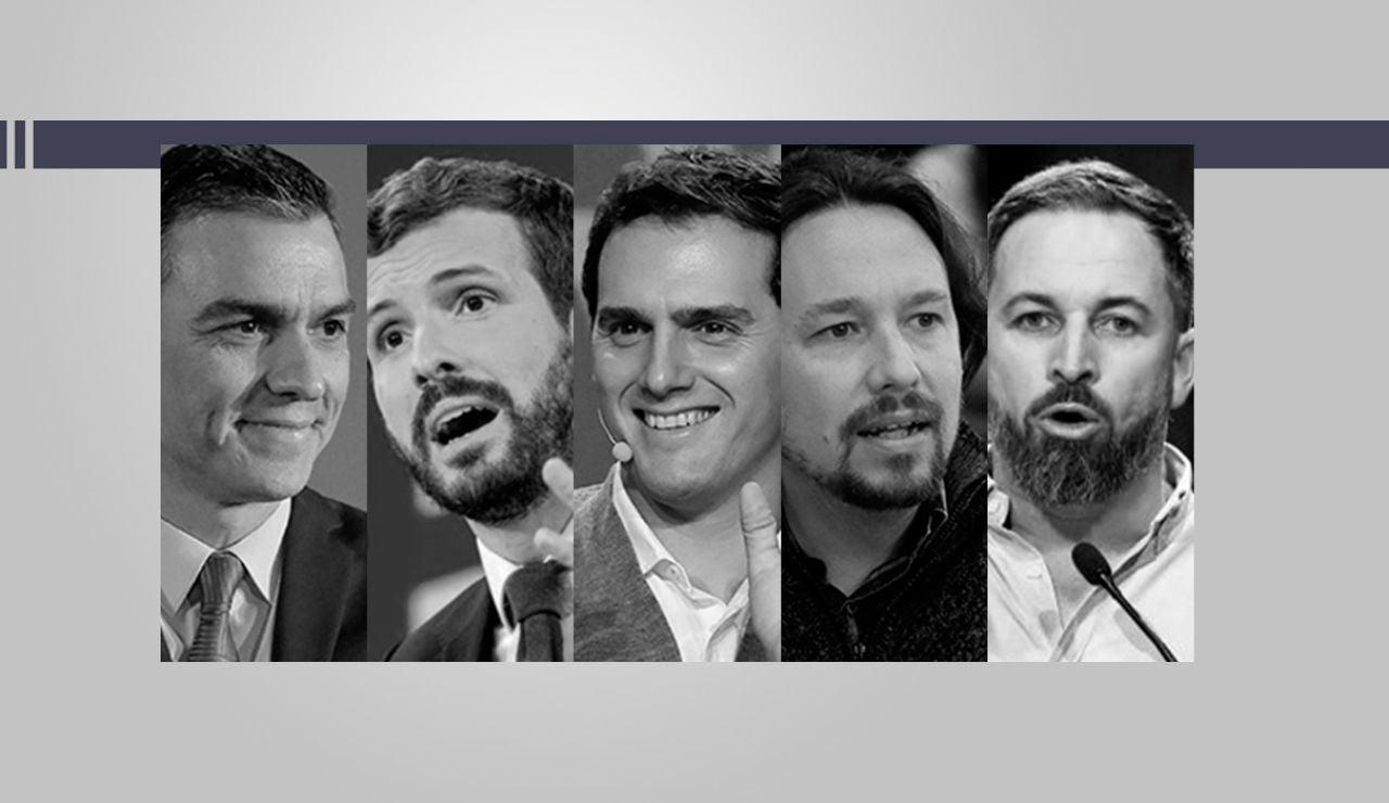 Candidatos participantes en el debate electoral del 10N