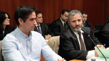 Rodrigo Lanza durante el juicio
