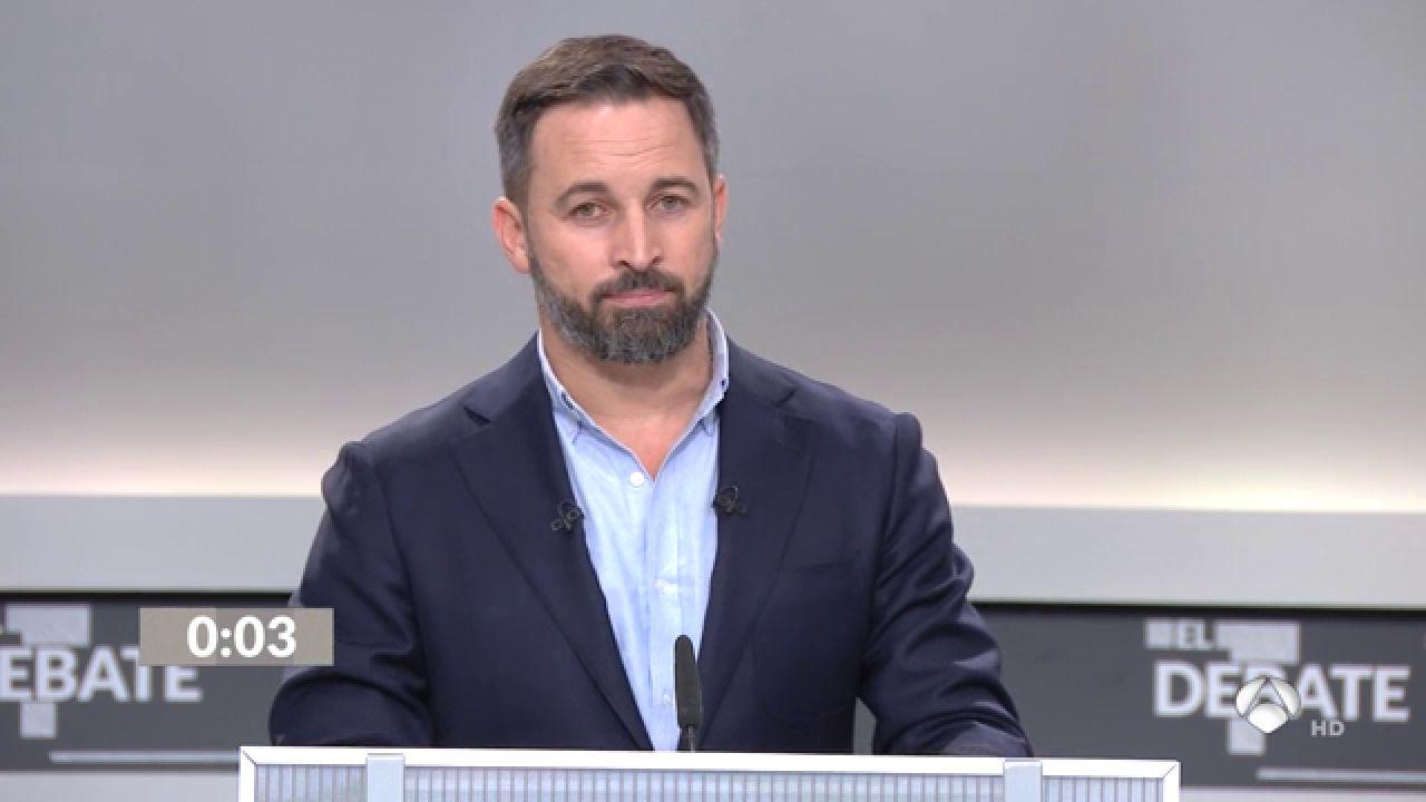 El 'Minuto De Oro' De Santiago Abascal En El Debate