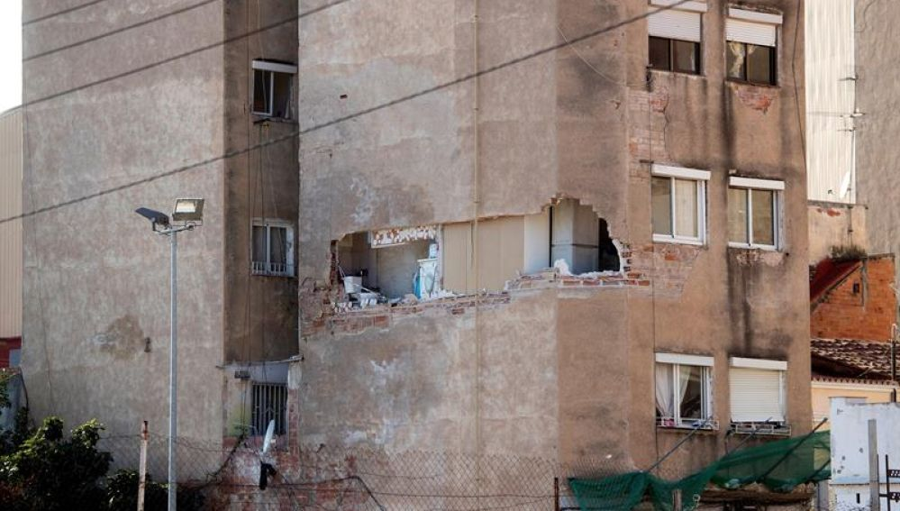 Edificio afectado por aluminosis en Badalona