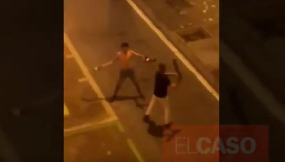 Pelea entre dos hombres en Barcelona