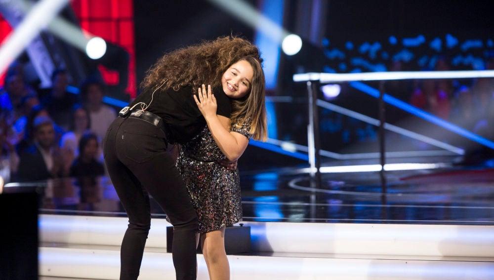 Saira Suárez se queda en el equipo de Rosario y Lolita Flores en las Batallas de 'La Voz Kids'