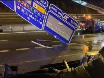Accidente en la A-2 a su paso por Guadalajara