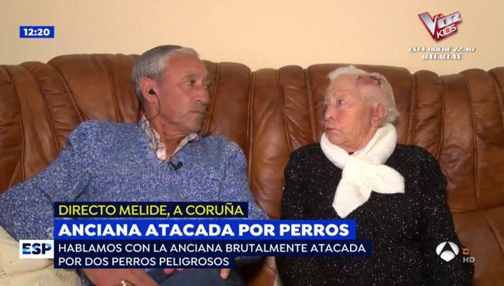 Anciana atacada por perros.