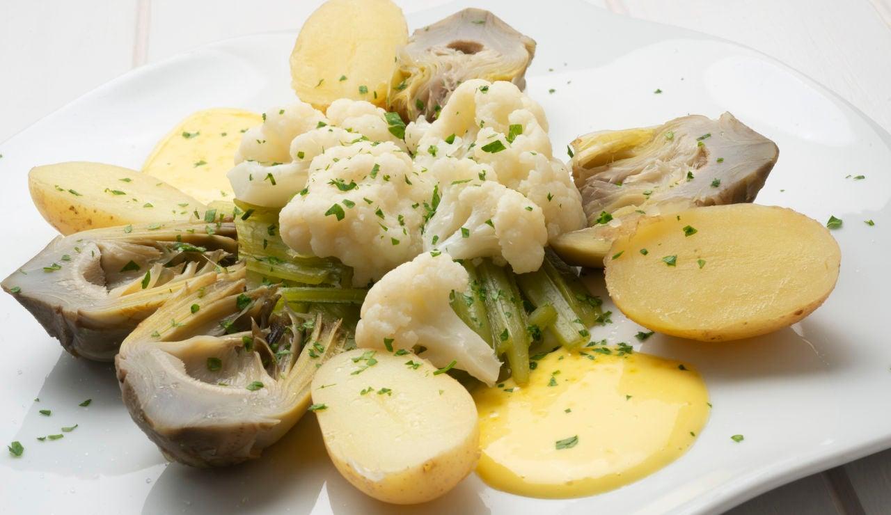 Panaché de verduras con mahonesa