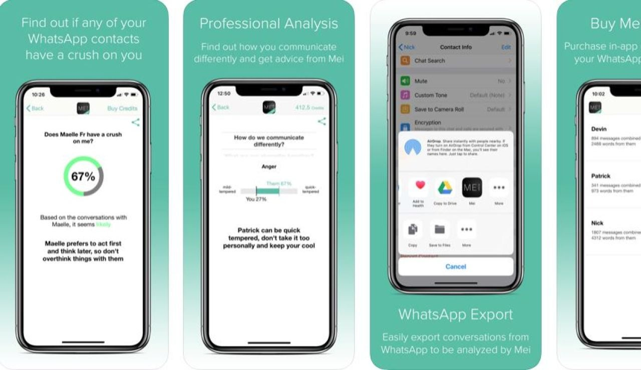Mei, la app que te ayuda a saber las intenciones de tu contacto de Whatsapp