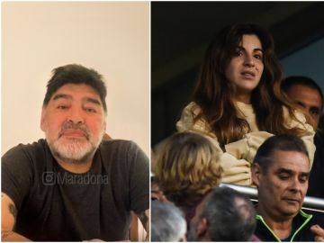 Diego Maradona y su hija Gianinna