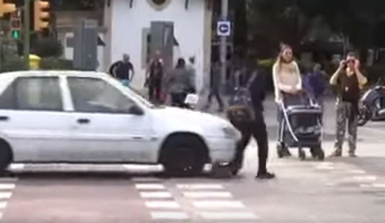 Atropello a una joven en patinete