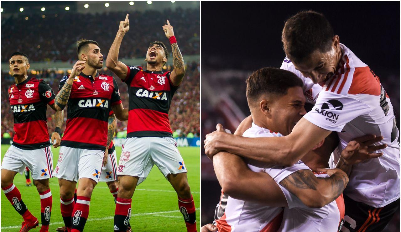 River Plate y Flamengo en un partido