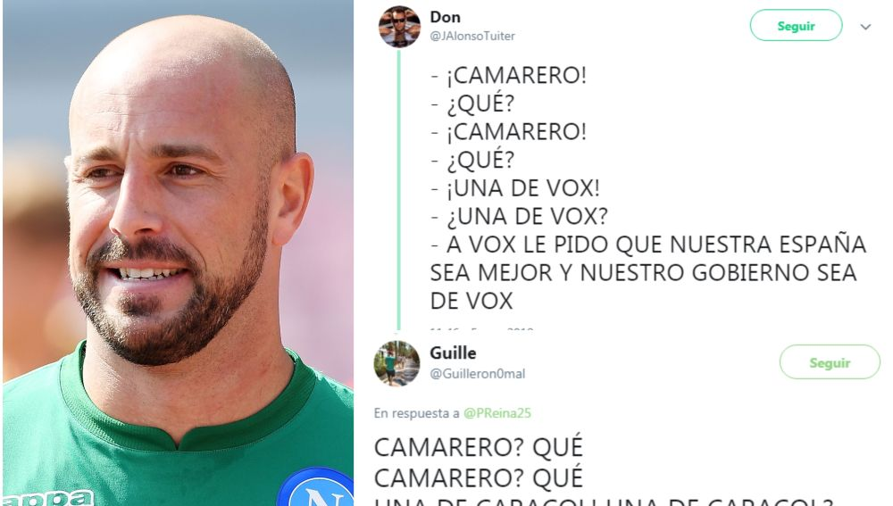 Las respuestas de Pepe Reina en Twitter