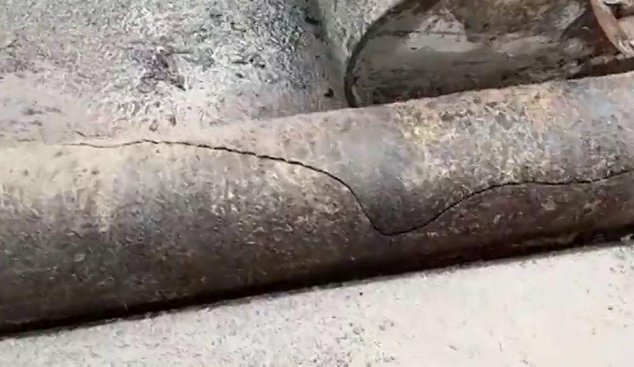 La rotura de una tubería deja sin agua a 25 mil vecinos en Getxo