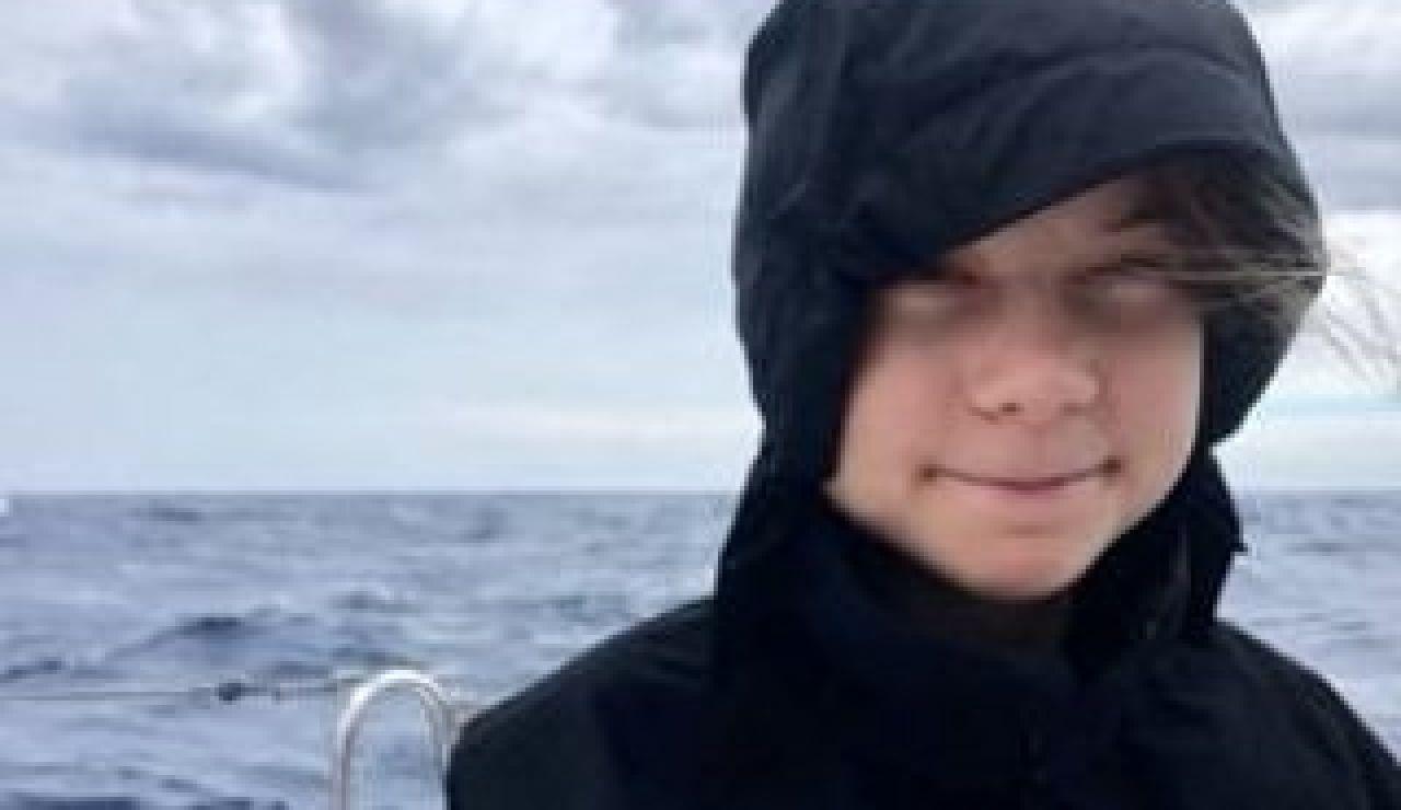 Greta Thunberg en su quinto día de travesía