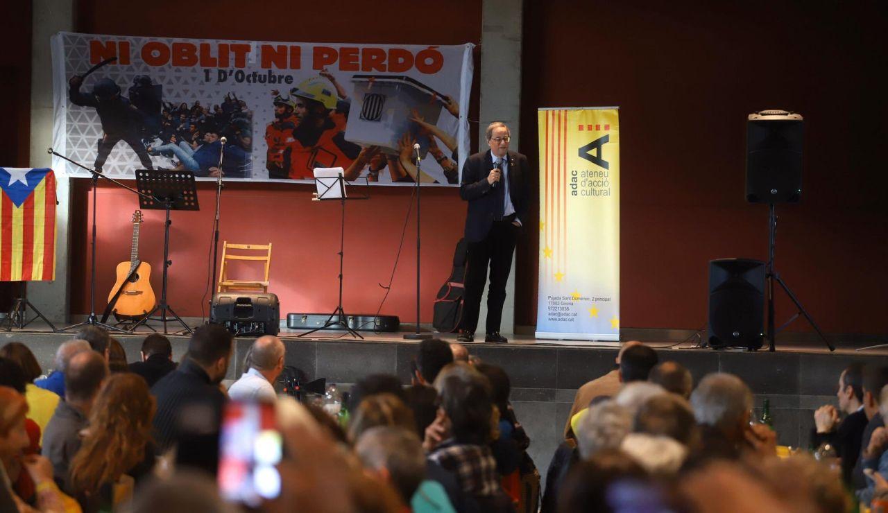 Quim Torra en un acto en Girona