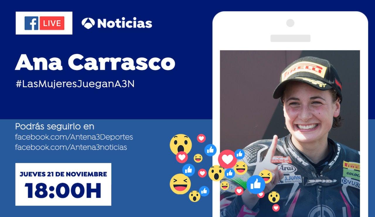Facebook Live con Ana Carrasco, en Antena 3 Deportes