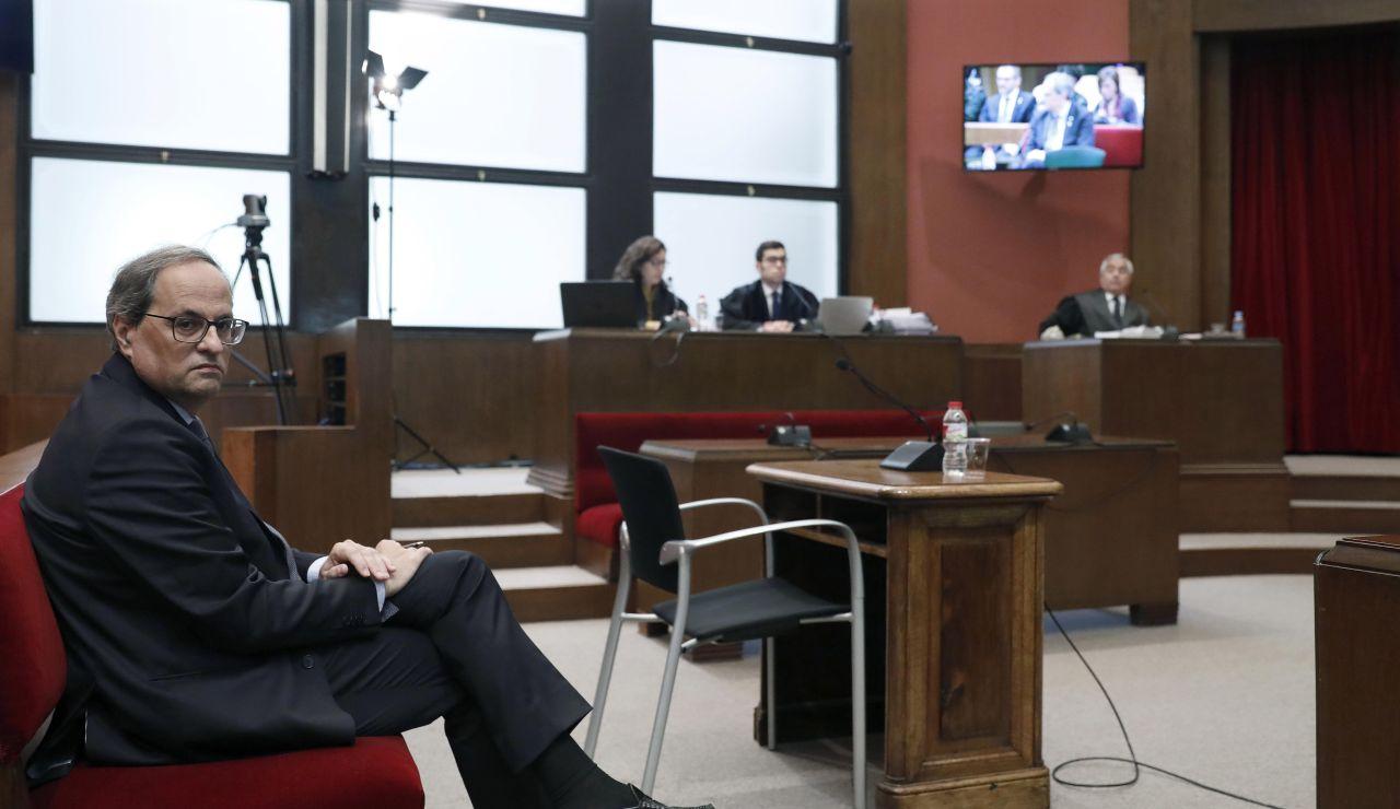 Quim Torra, president de la Generalitat, durante el juicio por desobediencia