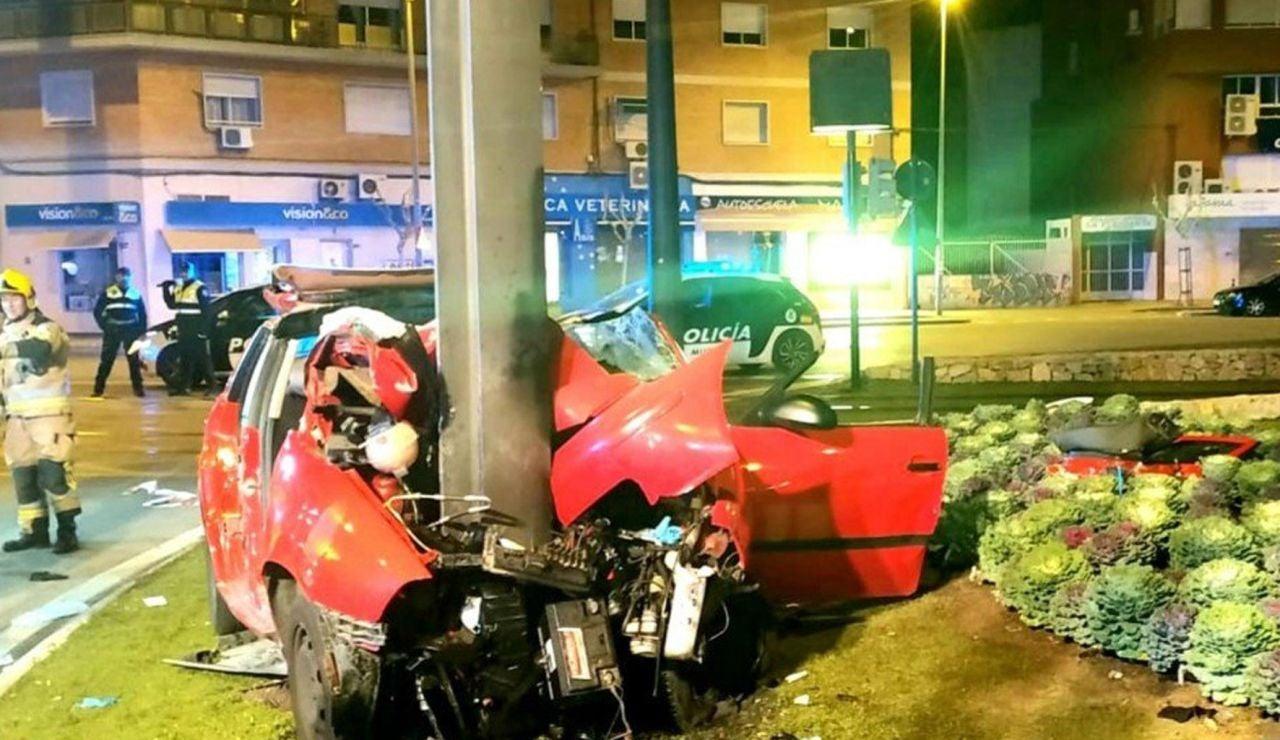 Un joven ha muerto y cuatro graves en Murcia
