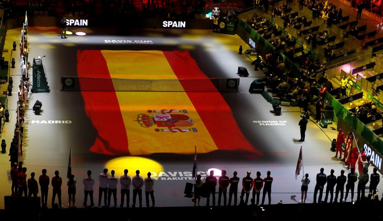Vista general de la ceremonia de inauguración de la Copa Davis
