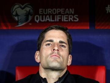 Robert Moreno, en el banquillo del Wanda Metropolitano