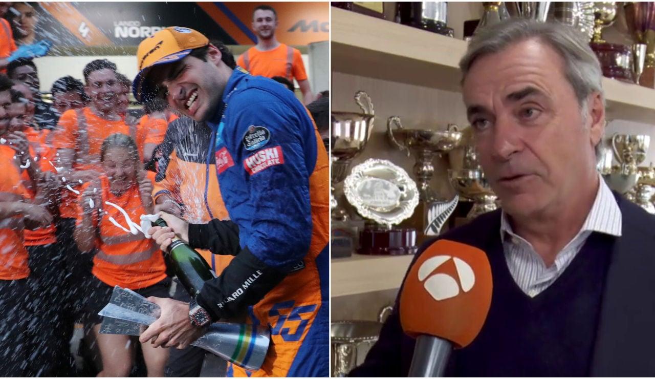 Carlos Sainz, orgullo de padre