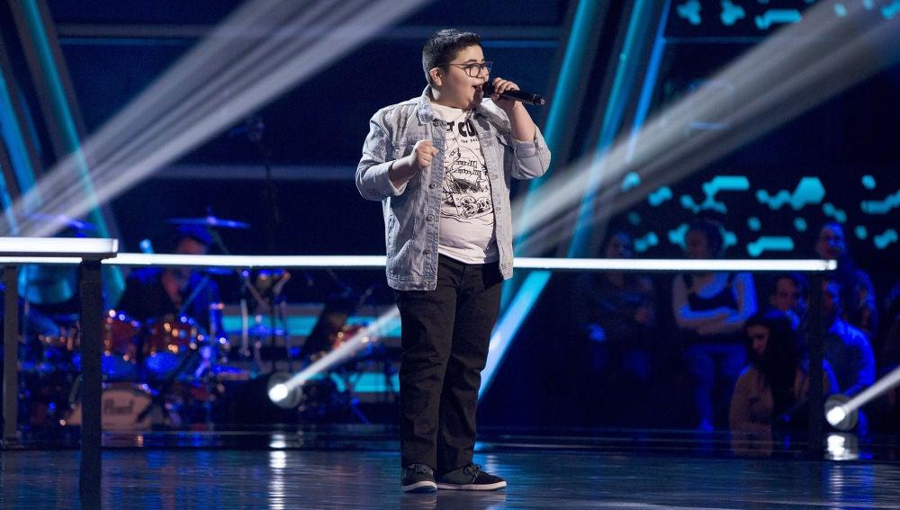 Actuación Alan Brizuela 'Ya me enteré' en los Asaltos de 'La Voz Kids'