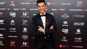 David Civera durante la Gala People in Red