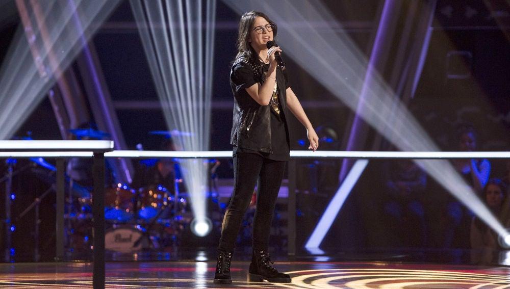 Actuación Sofía Esteban 'Miss Celie's blues' en los Asaltos de 'La Voz Kids'