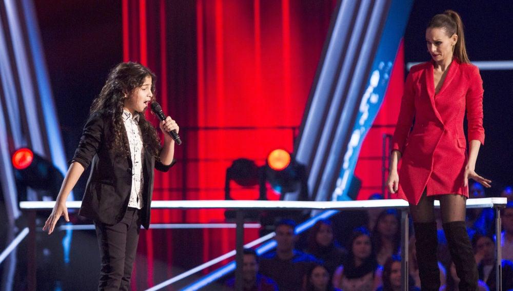 Rosario Flores pide a Juan Miguel Cortés que vuelva a cantar un fandango en 'La Voz Kids'