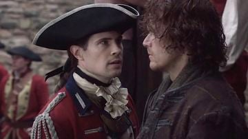 David Berry y Sam Heughan en 'Outlander'