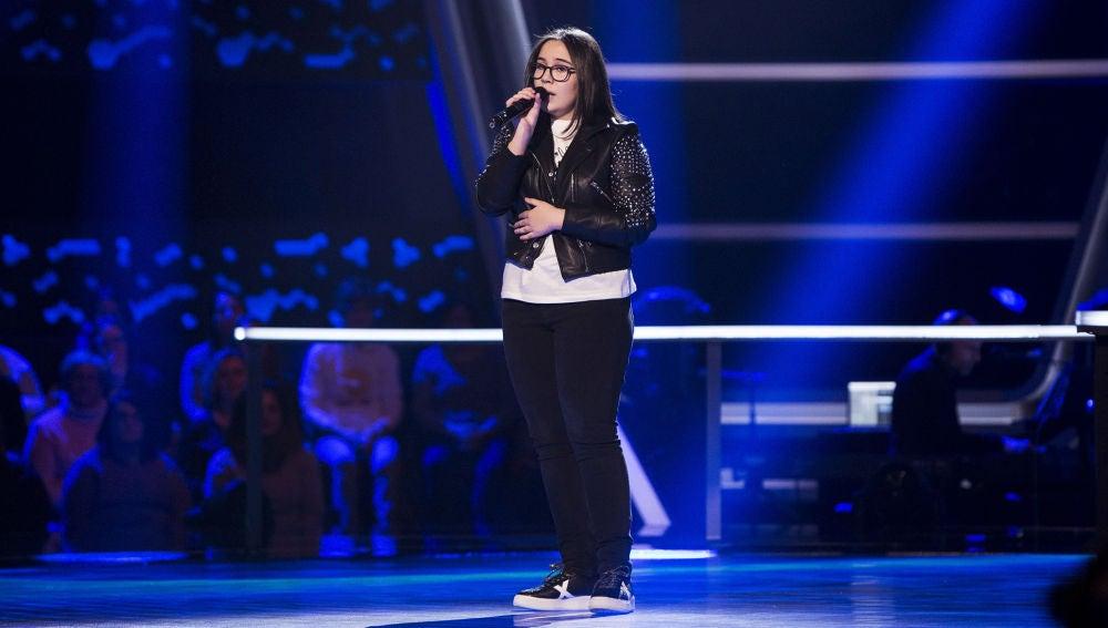 Actuación Ana Escudero 'Beautiful' en los Asaltos de 'La Voz Kids'