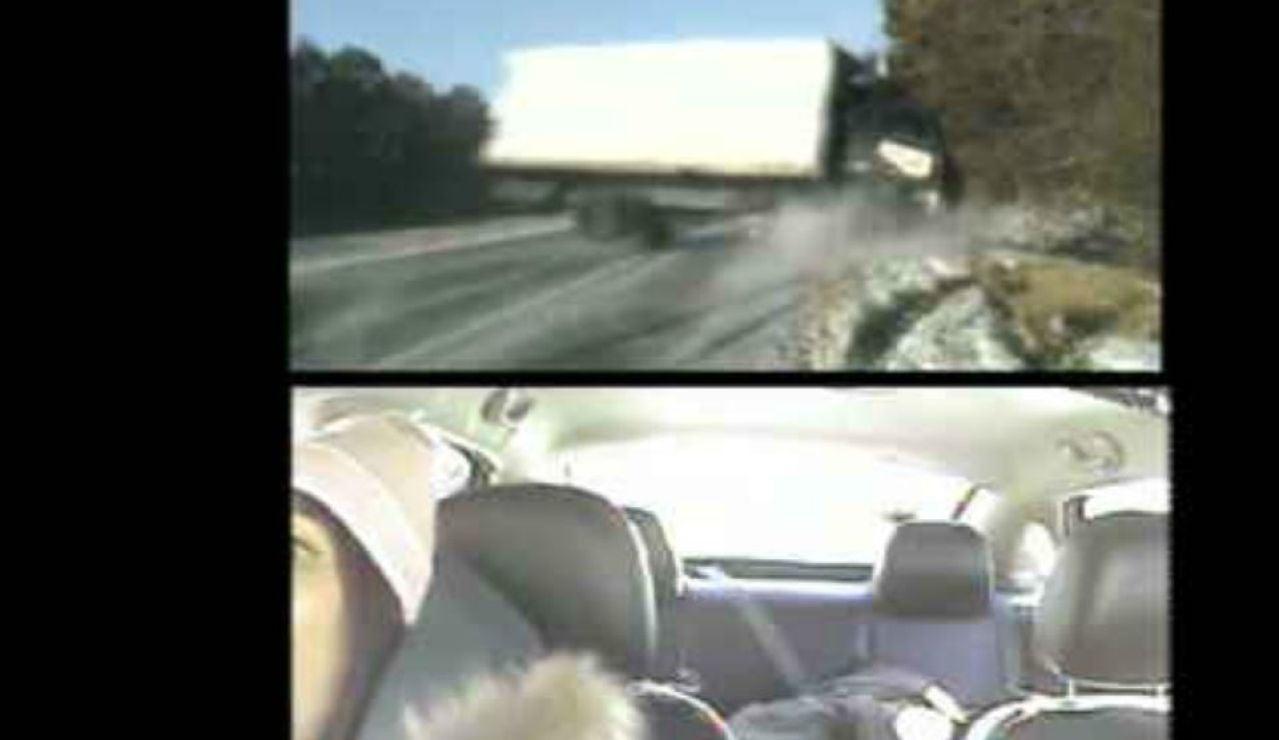 Momento del accidente en Illinois