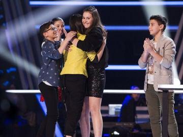 Alba Aguilar, Salvador Bermúdez, María Expósito e Irene Gil pasan a la Semifinal de 'La Voz Kids'