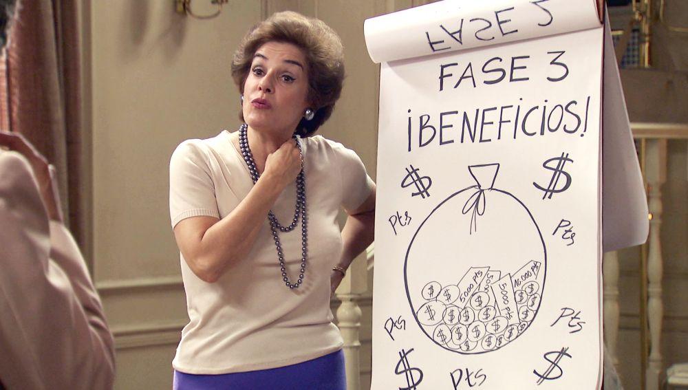 Benigna, dispuesta a timar a sus amigas 'cotorras' para conseguir dinero