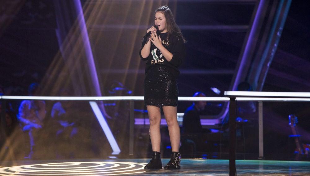 Actuación María Expósito 'All I ask' en los Asaltos de 'La Voz Kids'