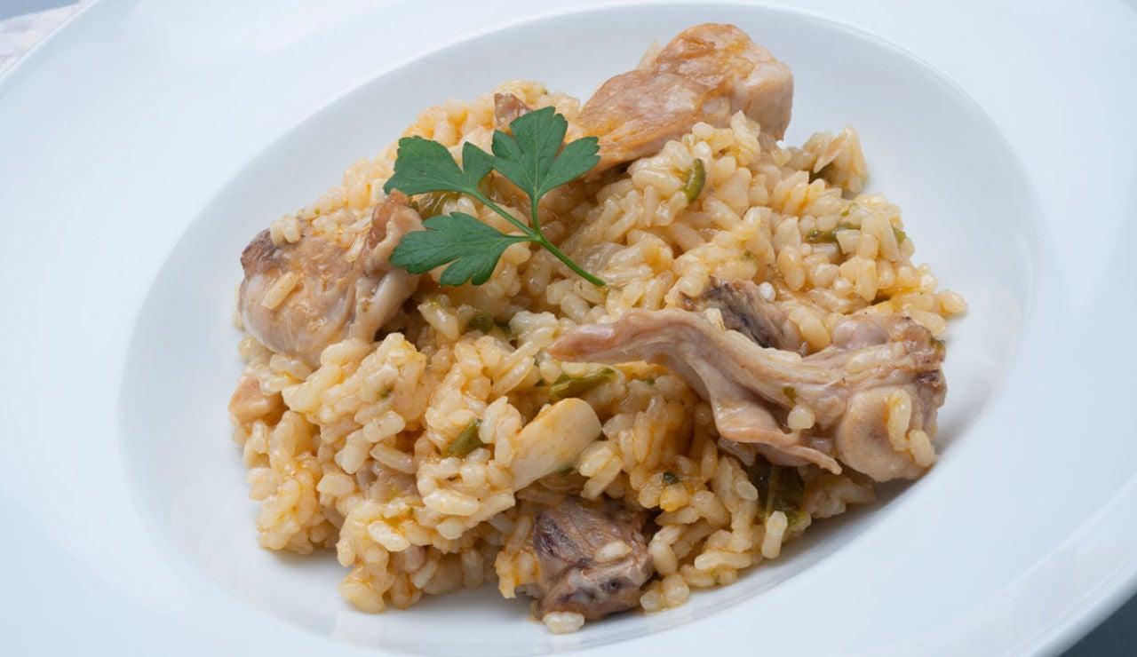 Receta de arroz caldoso de conejo de Karlos Arguiñano